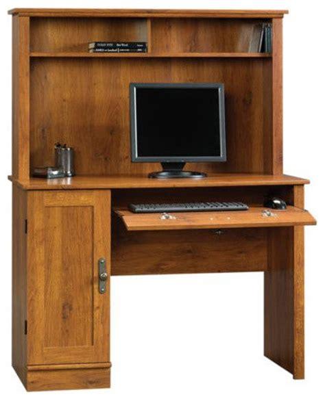 oak desk with hutch sauder harvest mill computer desk with hutch abbey oak