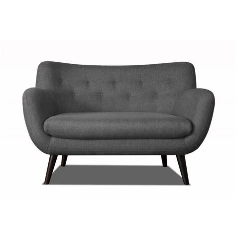 canapé 2 places design canap 233 2 places design en tissu gris fonc 233 axelle matelpro