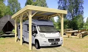 Carport toit plat camping car 23,4m² couvert