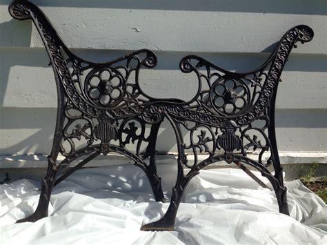 antique cast iron bench legs ornate black bench