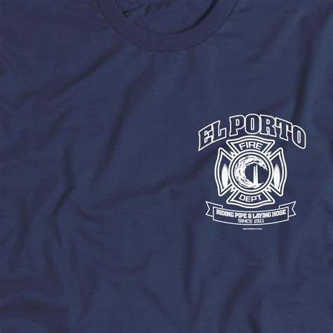 El Porto Fire Department T-shirt From Osoporto