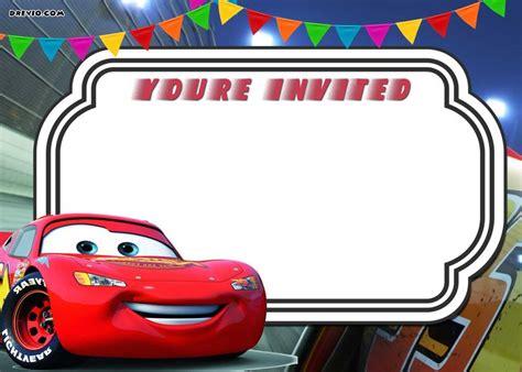 printable cars  lightning mcqueen invitation