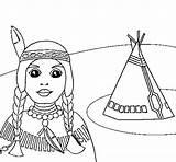 Teepee Indian Coloring Coloringcrew Colorear Indians Cowboys sketch template