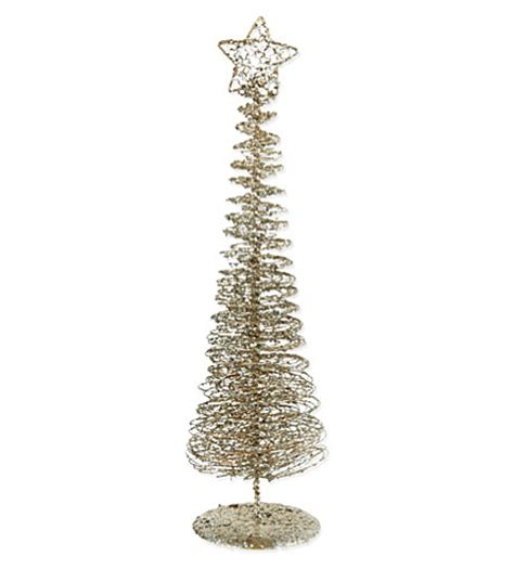 gisela graham glitter wire coil christmas tree 50cm