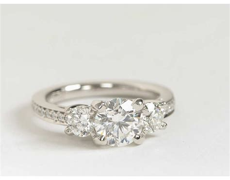 Three Stone Pavé Diamond Engagement Ring In Platinum (23. Center Stone Engagement Rings. Essence Rings. Natural Peridot Wedding Rings. .25 Engagement Rings. Large Cluster Wedding Rings. Gypsy Wedding Rings. Annello Engagement Rings. Big Rock Wedding Rings