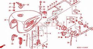Fuel Tank  Fuel Pump For Honda Vt 1100 Shadow C2 Sabre 2000