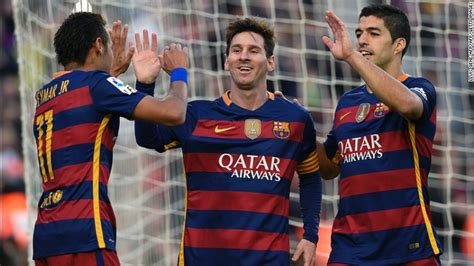 ACE: Lionel Messi scores hat-trick as Barcelona thrashes ...