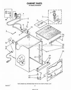 whirlpool dp3840xpn1 parts list and diagram With 3367443 pump and motor diagram and parts list for whirlpool dishwasher