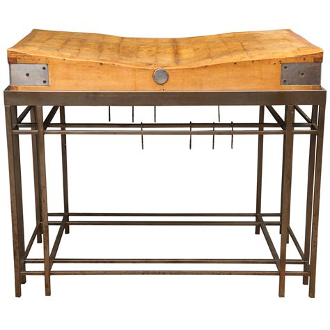 stainless steel kitchen island with butcher block top carving butcher block kitchen island with custom steel