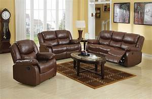 Acme fullerton bonded leather match motion living room set for Eurodesign brown leather 5 piece sectional sofa set