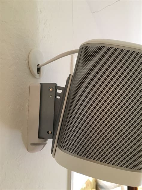 wall l with cord mounting and hiding cables for sonos play 1 sonos community