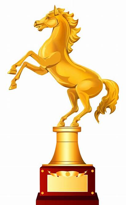 Trophy Clipart Horse Golden Race Star Transparent