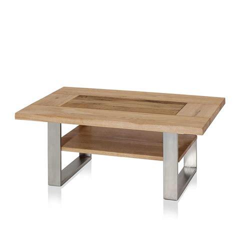 couchtisch eiche edelstahl design couchtisch aus edelstahl und eiche altholz tisch