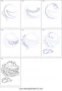 draw chomper  plants  zombies printable step