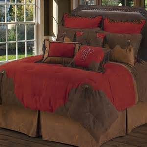red rodeo oversized comforter bed set dark red king touch of class