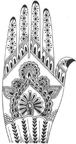 Heena Tattoos, Printable Mehndi Designs for Hand | Henna step by step | Henna vorlagen, Henna