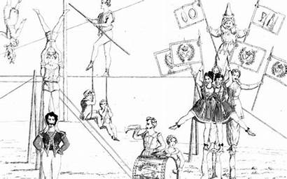 Coloring Tumble Gymnasts 1830s Entertain Library Found