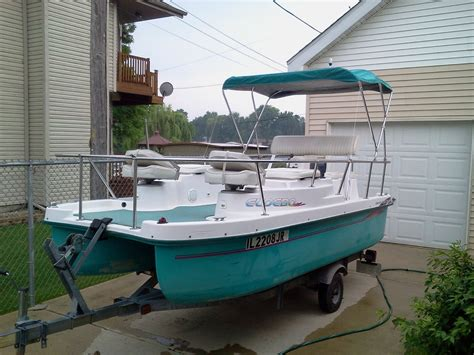 el debo electric pontoon boat sold