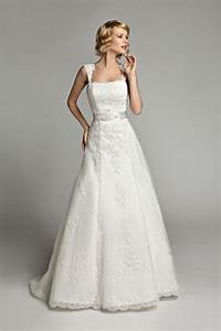 vintage a line strapless floor length lace wedding dress With a line cap sleeve lace wedding dress