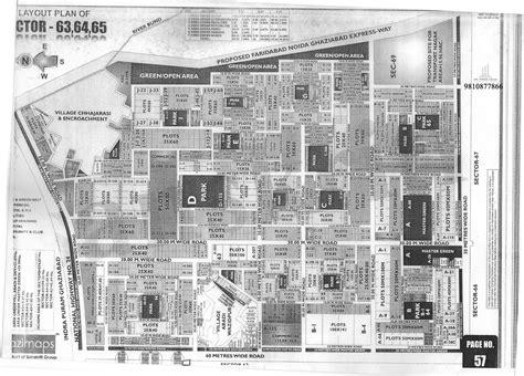 Sector-63,64,65 Noida Layout Plan HD Map Noida - Greater Noida Industry I BUY I SALE I RENT