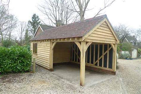 oak framed garages   bay oakcraft
