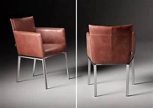Designer Stühle Leder : meribelle design stuhl von het anker in dickes leder mit edelstahl ~ Watch28wear.com Haus und Dekorationen