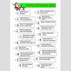 Quiz  Tricky Christmas Quiz Worksheet  Free Esl Printable Worksheets Made By Teachers