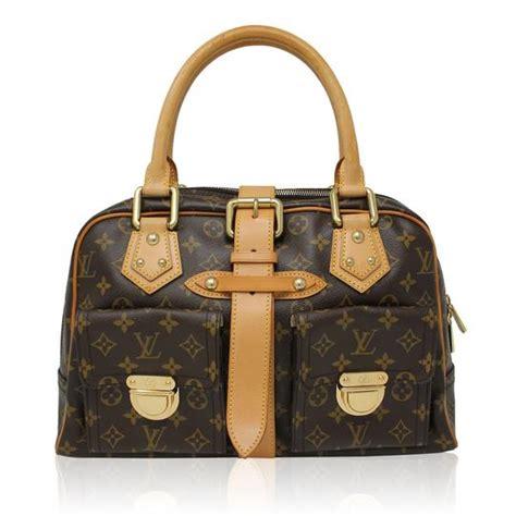 Louis Vuitton Cowhide Leather Bag by Louis Vuitton Manhattan Gm Monogram Handbag Brown Canvas