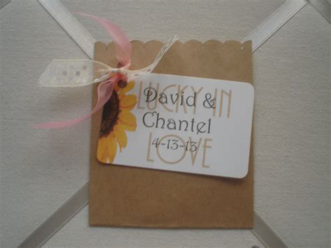 shabby sheik wedding for lottery ticket favor lottery