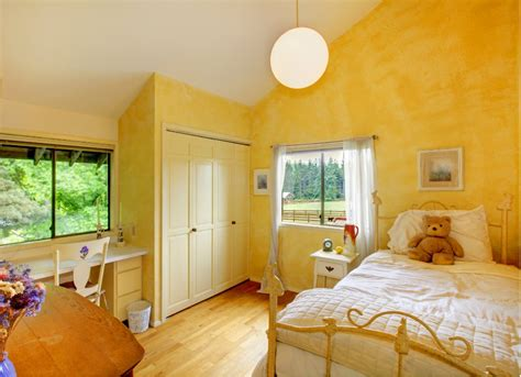 yellow bedroom kids room paint ideas  bright choices