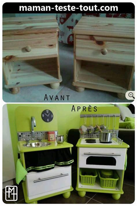 Table De Chevet Diy Diy Fabriquer Une Cuisine Pour Enfant Avec Deux Tables De Chevet Je L Ai Fait C Est Pas Si