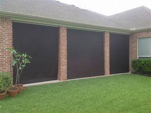 Houston Outdoor Shades  Roll Up Or Down Shades  Roll Away