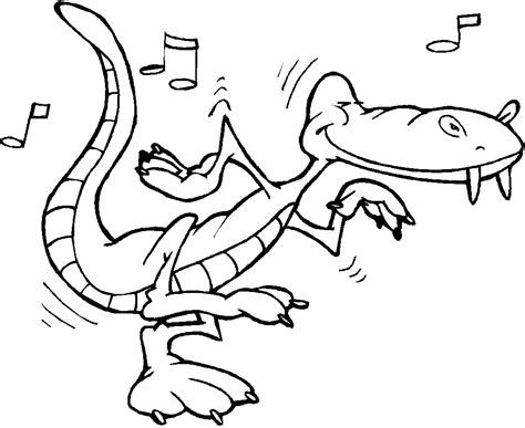 print  alligator  coloring pages