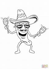 Coloring Maracas Pages Mexican Chilli Drawing Sombrero Pepper Mayo Cinco Printable Fiesta Drawings Mexico Spanish Los Supercoloring Getdrawings Paintingvalley Holiday sketch template
