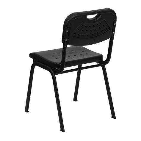 hercules black plastic stack chair with black powder