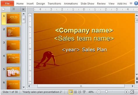 sample sales  powerpoint template yearly sales