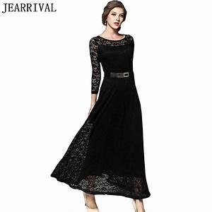 Elegant Black White Lace Dress 2017 New Summer Fashion ...