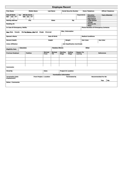 top  employee earnings record templates