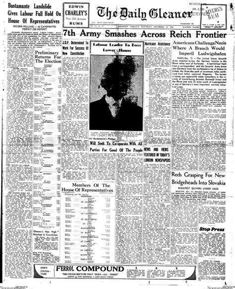 Journalistic Writing Exle by Fbf The Jlp S Election Win 1944 Digjamaica
