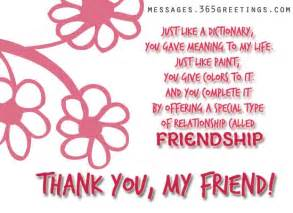 thank you messages for friends 365greetings