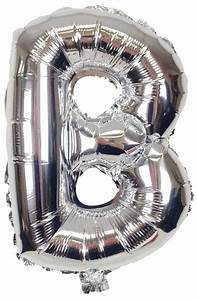 16quot foil mylar balloon silver letter b With foil letter balloons silver