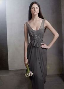 vera wang simple gray bridesmaid dress with With grey wedding dress vera wang