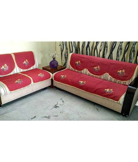 6 Seater Sofa Cover griiham 5 seater cotton set of 6 sofa cover set buy