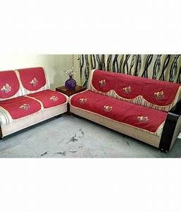 Griiham 5 seater cotton set of 6 sofa cover set buy for Buy sofa covers online sets
