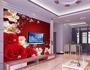 Aliexpress.com : Buy custom 3d wallpaper murals red rose ...