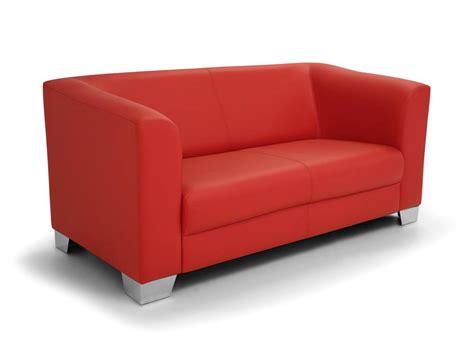 Chicago Sofa Couch 2-sitzer Rot Rouge Kunstleder