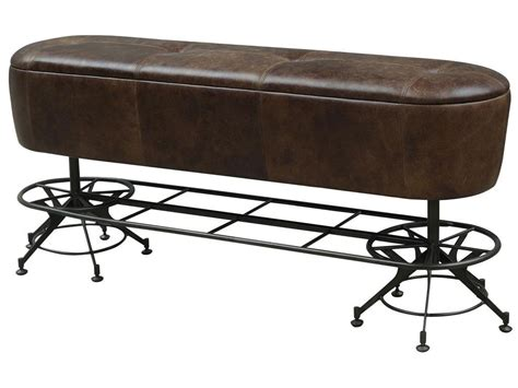 counter height bench giles counter height leather dining bench with industrial