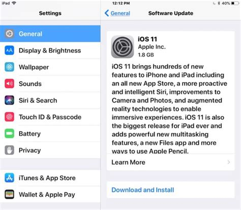 iphone ios update how to update install ios 11 on iphone or