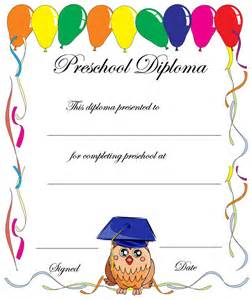 Preschool Graduation Certificates Free Template Printables