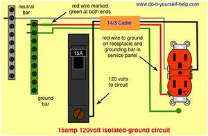 Wiring Diagram For A 15 Amp Isolated Ground Circuit